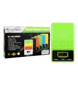 WeighMax NJ-100 100g x 0.01g Pocket Scales - Green