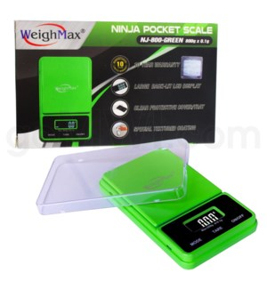 WeighMax NJ-800 800g x 0.1g Pocket Scales Green