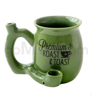 "Fashioncraft 4"" Ceramic Waterpipe Mug -Prem Roast & Toast Gr"