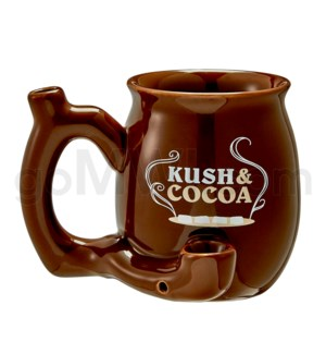 "Fashioncraft 4"" Ceramic Waterpipe Mug -Kush & Cocoa Brn"