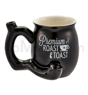 "Fashioncraft 4"" Ceramic Waterpipe Mug -Roast Toast Matte Blk"