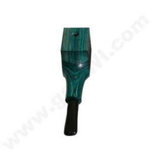 "3.5"" Wooden Pipe Sqaure Green w/cap"
