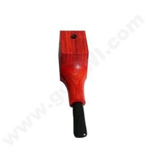"3.5"" Wooden Pipe Sqaure Orange w/cap"