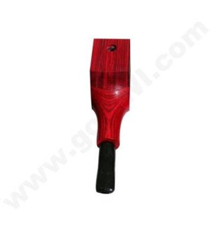 "3.5"" Wooden Pipe Square Red w/cap"