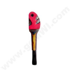 """4"""" Wooden Pipe Multicolor  w/cap"""