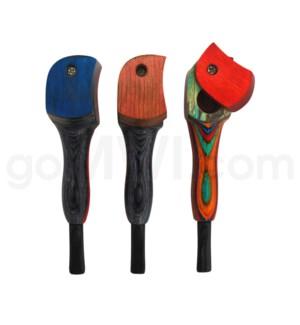 Wooden Pipe w/Twist Cap- Blue