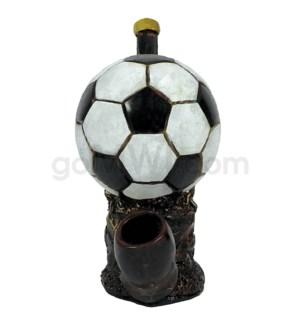 """5"""" Ecuadorian Polyresin Pipe - Soccer Ball"""