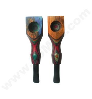 Wooden Pipe Colored  Square