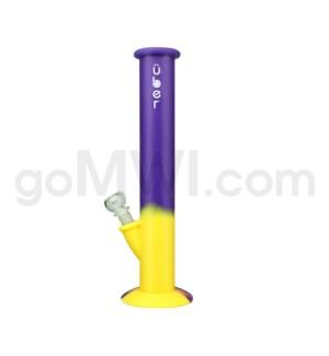 """Uber 14"""" Sport Silicone Waterpipe Yellow & Purple Swirls"""