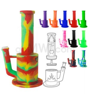 "Waxmaid 10"" Magneto Silicone Waterpipe w/ Honeycomb Perc-Ass"