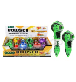 "Ooze silicone 5"" Bowser Spoon - Assorted Colors 12ct/bx"