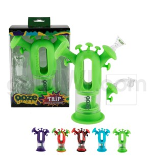 "Ooze Silicone 7"" Trip Waterpipe - Assorted Colors"
