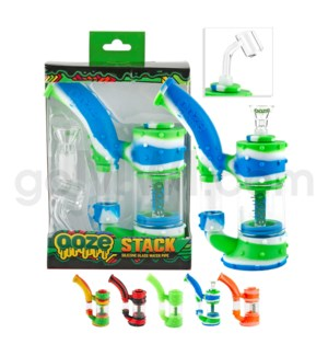 "Ooze Silicone 7"" Stack Waterpipe - Assorted Colors"