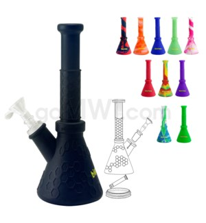 "Waxmaid 8.5"" Hobee Silicone Waterpipe-Assorted Colors"