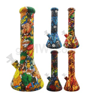 "Silicone 12"" Waterpipe - Assorted Design"