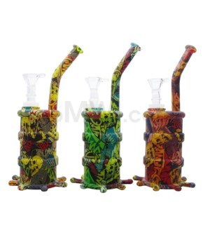 """Silicone 8"""" Waterpipe - Assorted Design"""