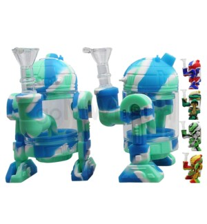 "Silicone 11"" Droid Waterpipe - Assorted Colors"