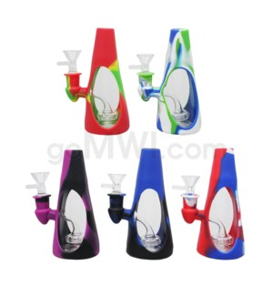 "Silicone 6"" Waterpipe - Assorted Colors"
