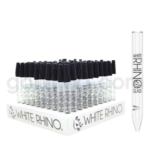 "White Rhino 5"" 12mm Dab Straw w/ silicone cap 100ct/bx"