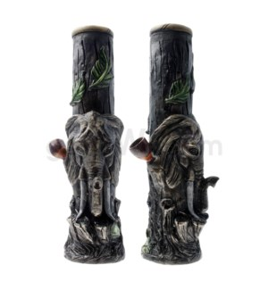 "12"" Ecuadorian Polyresin Waterpipe- Elephant"