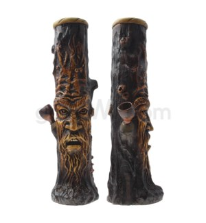 "12"" Ecuadorian Polyresin Waterpipe- Tree Stump"