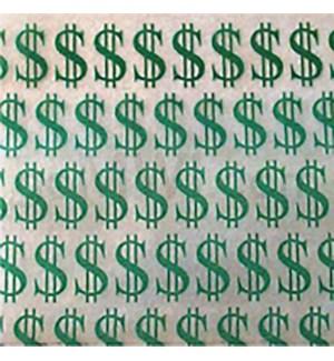 "Zip Bags 1.5""x1.25"" Dollar Sign 10/100PK 1000CT/BG"