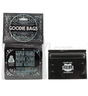 "Goodie Bags Smell Proof Ziplock Small Black 4""x3"" 10CT/PK"