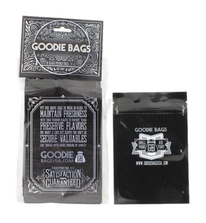 "Goodie Bags Smell Proof Ziplock Medium Black 4""x6"" 10CT/PK"