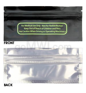 Mylar Bags Smell Proof Ziplock 120MM Blunt Sze 50CT/PK