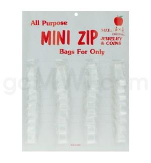 Zip Lock Bags CardBoard display 36ct  1/2 X 1/2