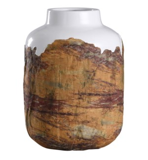 Canyon | 10in X 14in Rustic Textured Ceramic Vase