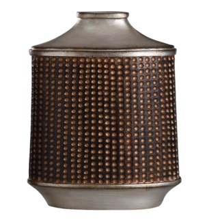 Winthrop Bronze & Khashi Silver | 13in Accessory Vase