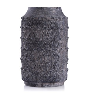 Binani Charcoal | 16in x 9in Decorative Concrete Vase