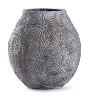Cleobury Blue | 12in x 10in Floral Concrete Vase
