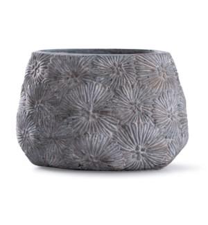 Cleobury Blue | 10in x 15in Floral Concrete Vase