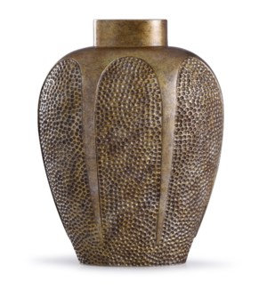 Chateau Gold | 17in x 7in Traditional Hammered Resin Vase