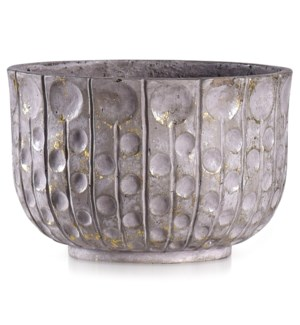 ALCAMO GREY | 14in w X 9in ht X 14in d | Artative Circle Texture Eco Paper Bowl