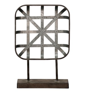 Galvanized Metal | 11in W X 3in D X 16in Ht Table Top Accessory