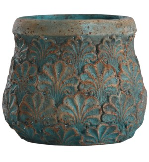 Tenbury Turquoise | 9in Ht Concrete Accessory