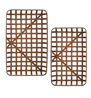 Paracel Natural | Industrial Traditional | Set of Two Bamboo Trays