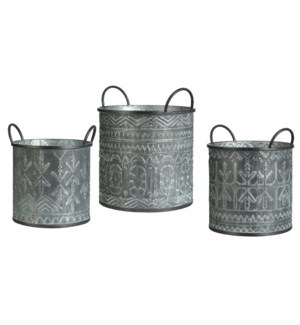 SET OF 3 metal pot