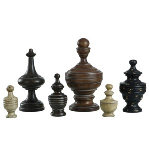 Chess anyone Six individual figurines in various earth tone finishes