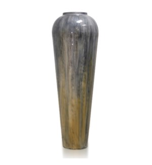 HANDMADE  GLASS | Made in India | 29in X 10in | Elegant Artistic Hand blown India Decorative Vase