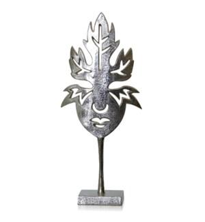 ALUMINUM METAL FIGURINE FACE STAND
