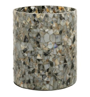 Agate Mosaic | 10in X 10in X 12in Glass Candle Holder
