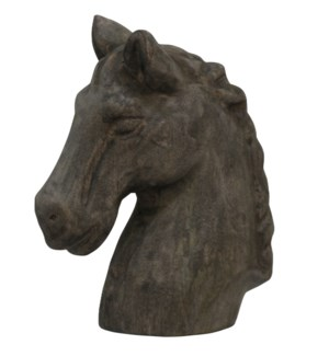 Native Horse | 10in X 5in X 12in Natural Wood Table Top Carved Sculpture