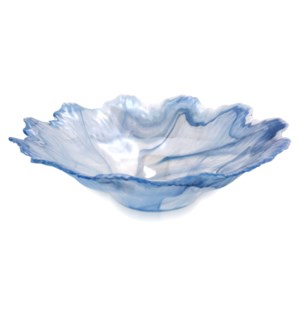 2700 CENTERPIECE | 16in w X 4in ht X 16in d | 2700 Centerpiece Murano Glass Bowl in Sky Blue