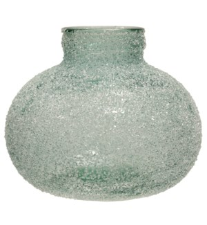 Rime Ice Soft Green | Recyled Spanish Glass Vase Accessory