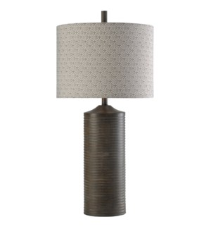 Salford Grey | Bryan Keith Branded | Table Lamp | 150W | 3-Way | Hardback Designer Shade