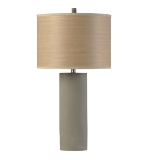 Berkley Woods | Bryan Keith Branded | Concrete Body Lamp | 150W | 3-Way | Liner Tree Print Shade